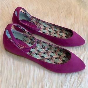 BNWT Purple Vegan Suede Ballet Flats Size 8